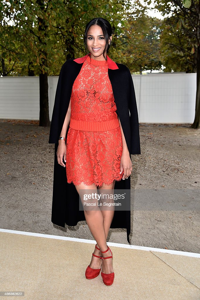 Ciara arrives at the Valentino show as part of the Paris Fashion Week Womenswear Spring/Summer 2015 on September 30 2014 in Paris France