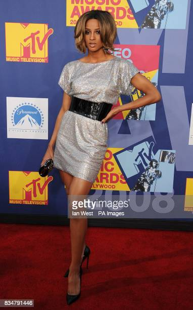 Ciara arrives for the MTV Video Music Awards 2008 at Paramount Studios Hollywood Los Angeles California