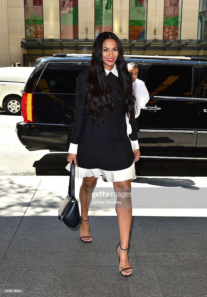 Ciara arrives to NBC's 'New York Live' at 30 Rockefeller Plaza on August 14, 2014 in New York City.