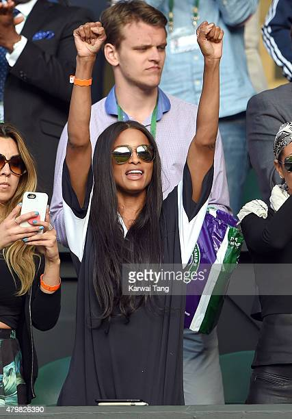 Ciara attends day eight of the Wimbledon Tennis Championships at Wimbledon on July 7 2015 in London England