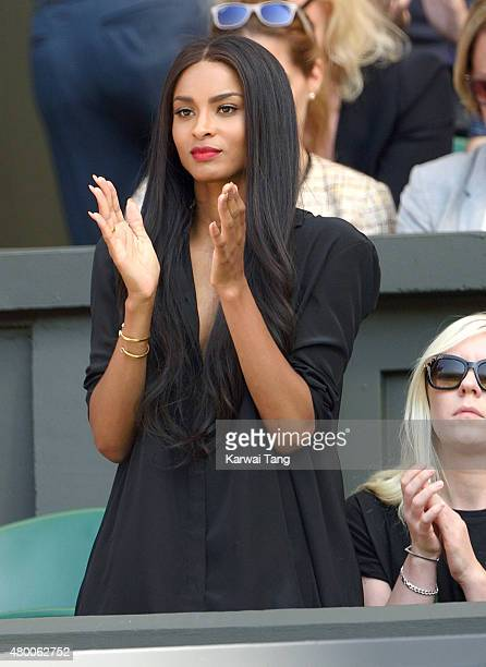 Ciara attends day ten of the Wimbledon Tennis Championships at Wimbledon on July 9 2015 in London England