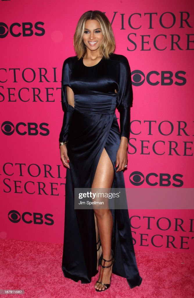 Ciara attends the 2013 Victoria's Secret Fashion Show at Lexington Avenue Armory on November 13, 2013 in New York City.