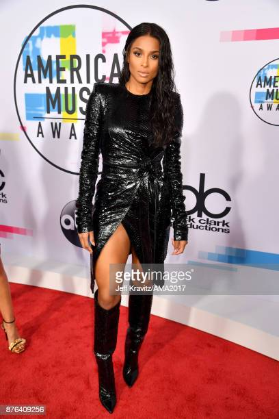 Ciara attends the 2017 American Music Awards at Microsoft Theater on November 19 2017 in Los Angeles California