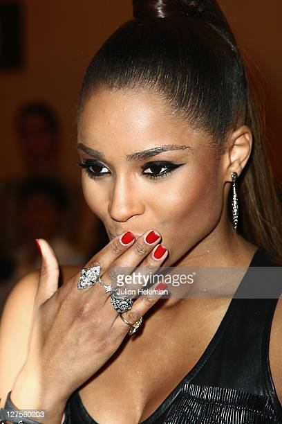 Ciara attends the Barbara Bui Ready to Wear Spring / Summer 2012 show during Paris Fashion Week at Hotel Ritz on September 29 2011 in Paris France