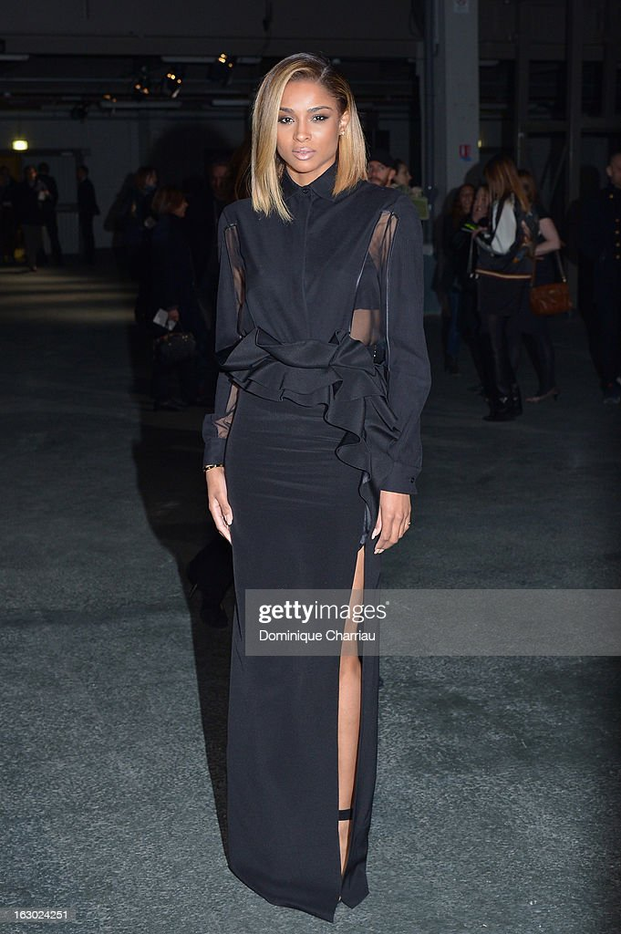 Ciara attends the Givenchy Fall/Winter 2013 Ready-to-Wear show as part of Paris Fashion Week on March 3, 2013 in Paris, France.