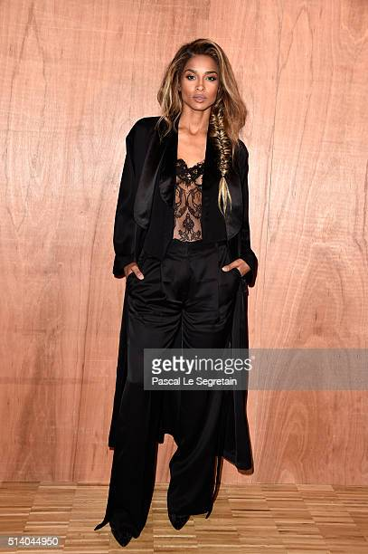 Ciara attends the Givenchy show as part of the Paris Fashion Week Womenswear Fall/Winter 2016/2017 on March 6 2016 in Paris France