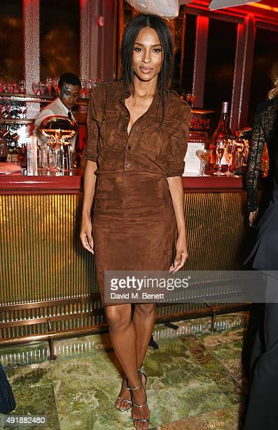 Ciara attends the launch of Sexy Fish London in Berkeley Square on October 8 2015 in London England