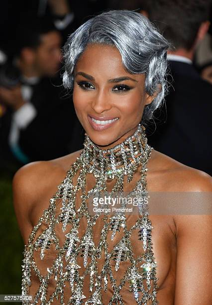Ciara attends the 'Manus x Machina Fashion in an Age of Technology' Costume Institute Gala at the Metropolitan Museum of Art on May 2 2016 in New...