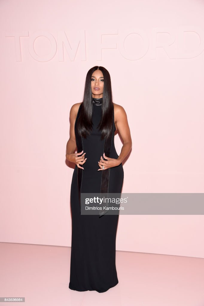 Ciara attends the Tom Ford Spring/Summer 2018 Runway Show at Park Avenue Armory on September 6, 2017 in New York City.