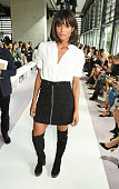 Ciara attends the Topshop Unique show during London Fashion Week SS16 at The Queen Elizabeth II Conference Centre on September 20 2015 in London...