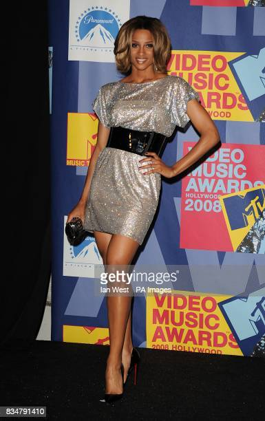 Ciara backstage at the MTV Video Music Awards 2008 at Paramount Studios Hollywood Los Angeles California