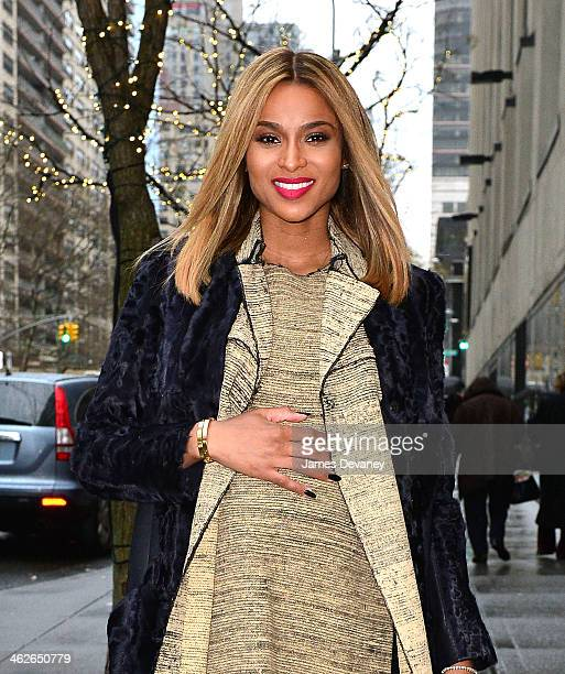 Ciara departs 'The View' at ABC Studios after announcing she's pregnant on January 14 2014 in New York City