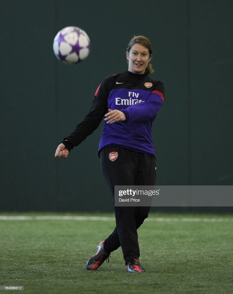 Ciara Grant of Arsenal Ladies during an Arsenal Ladies Training Session at Arsenal Training Ground on March 19, 2013 in St. Albans, Hertfordshire, England.