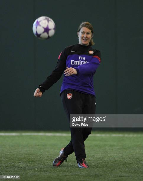 Ciara Grant of Arsenal Ladies during an Arsenal Ladies Training Session at Arsenal Training Ground on March 19 2013 in St Albans Hertfordshire England