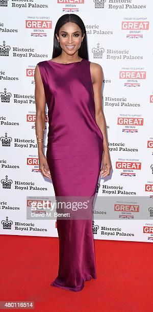 Ciara Harris attends the Kensington Palace Summer Gala at Kensington Palace on July 9 2015 in London England