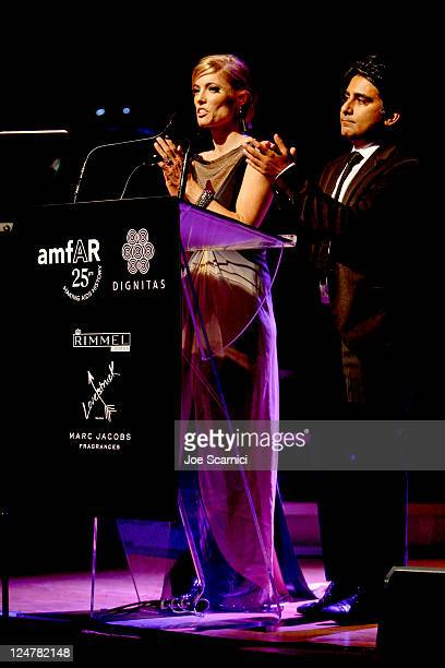 Ciara Hunt and National Post columnist Shinan Govani attends Cinema Against AIDS Toronto 2011 Benefiting amfAR And Dignitas at The Carlu on September...