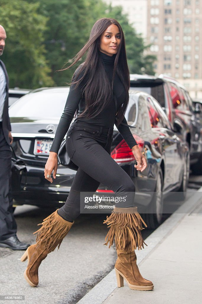 Ciara is seen leaving the IMG Models office on August 11 2015 in New York City