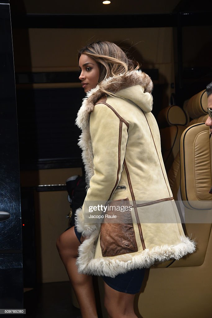 <a gi-track='captionPersonalityLinkClicked' href=/galleries/search?phrase=Ciara+-+Cantante&family=editorial&specificpeople=11647122 ng-click='$event.stopPropagation()'>Ciara</a> is seen leaving the Polo Ralph Lauren presentation during Fall 2016 New York Fashion Week on February 12, 2016 in New York City.