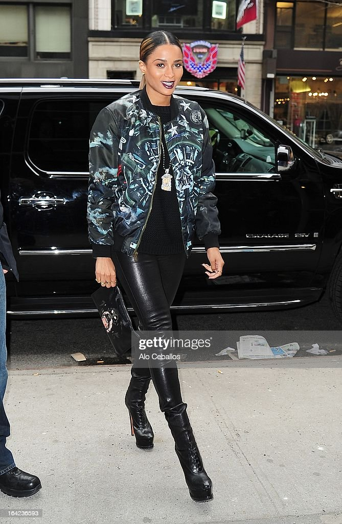 Ciara is seen on March 21, 2013 in New York City.