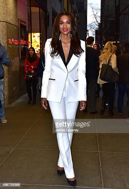 Ciara leaves Rockefeller Center on November 11 2015 in New York City