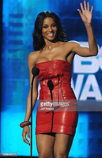 Ciara onstage during the 2010 BET Awards held at the Shrine Auditorium on June 27 2010 in Los Angeles California