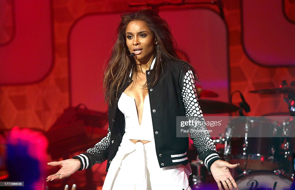 <a gi-track='captionPersonalityLinkClicked' href=/galleries/search?phrase=Ciara+-+S%C3%A4ngerin&family=editorial&specificpeople=11647122 ng-click='$event.stopPropagation()'>Ciara</a> performs at Easy, Breezy, Brooklyn hosted by Becky G and presented by MTV and COVERGIRL at Music Hall of Williamsburg on August 22, 2013 in the Brooklyn borough of New York City.