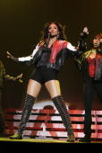 Ciara performs at the Wembley Arena on December 162007 in LondonEngland