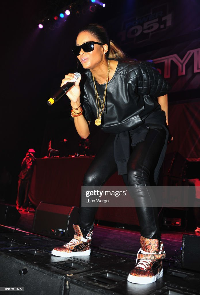 <a gi-track='captionPersonalityLinkClicked' href=/galleries/search?phrase=Ciara+-+Singer&family=editorial&specificpeople=11647122 ng-click='$event.stopPropagation()'>Ciara</a> performs during DJ ProStyle's birthday bash at Hammerstein Ballroom on April 16, 2013 in New York City.