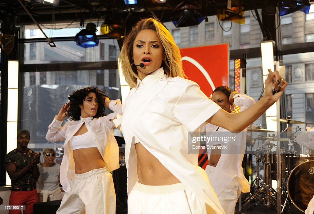 AMERICA - Ciara performs live on 'Good Morning America,' 7/9/13, airing on the ABC Television Network. (Photo by Donna Svennevik/ABC via Getty Images) CIARA
