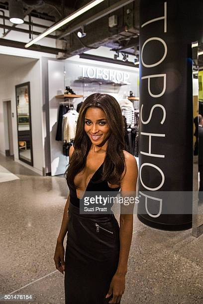 Ciara poses for a photo at Nordstrom on December 15 2015 in Seattle Washington