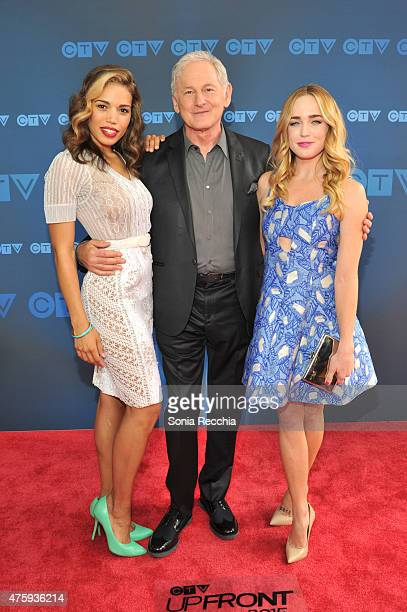 Ciara Renee Victor Garber and Caity Lotz attend CTV Upfront 2015 Presentation at Sony Centre For Performing Arts on June 4 2015 in Toronto Canada