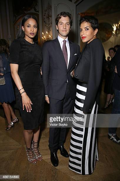 Ciara Ricardo Figueiredo and Princess Deena Aljuhani Abdulaziz attend Aquazzura cocktail party Hosted by Edgardo Osorio at Hotel Le Marois on...