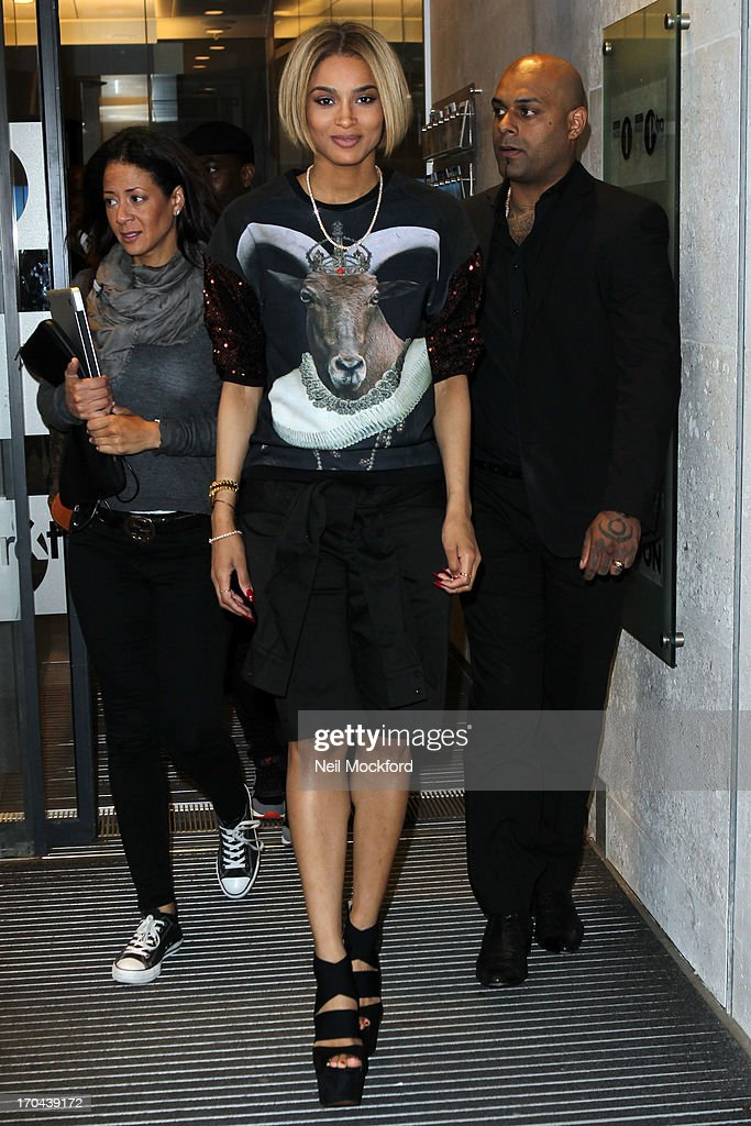 Ciara seen at BBC Radio One on June 13, 2013 in London, England.