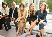 Ciara Sir Philip Green Anna Wintour Cressida Bonas and Alexa Chung attend the Topshop Unique show during London Fashion Week SS16 at The Queen...