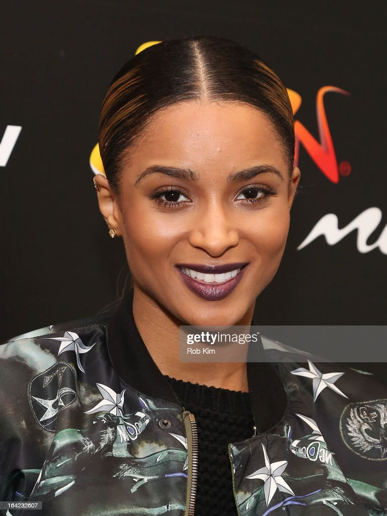 Ciara visits Music Choice's SWRV TV Network on March 21, 2013 in New York City.