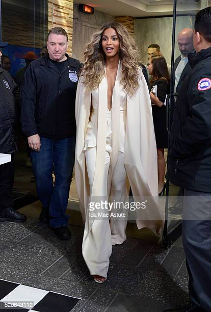 AMERICA Ciara walks out in Times Square on GOOD MORNING AMERICA 4/11/16 airing on the ABC Television Network CIARA