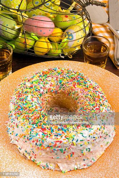 Ciaramicola, an Umbrian cake for Easter Day, Umbria, Italy, Europe
