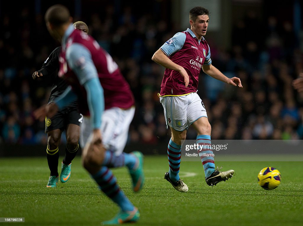 <a gi-track='captionPersonalityLinkClicked' href=/galleries/search?phrase=Ciaran+Clark&family=editorial&specificpeople=4644641 ng-click='$event.stopPropagation()'>Ciaran Clark</a> of Aston Villa in action during the Barclays Premier League match between Aston Villa and Wigan Athletic at Villa Park on December 29, 2012 in Birmingham, England.