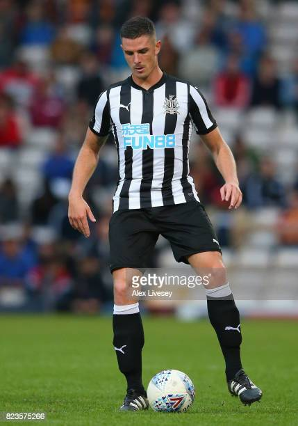 Ciaran Clark of Newcastle United during a preseason friendly match between Bradford City and Newcastle United at Northern Commercials Stadium on July...