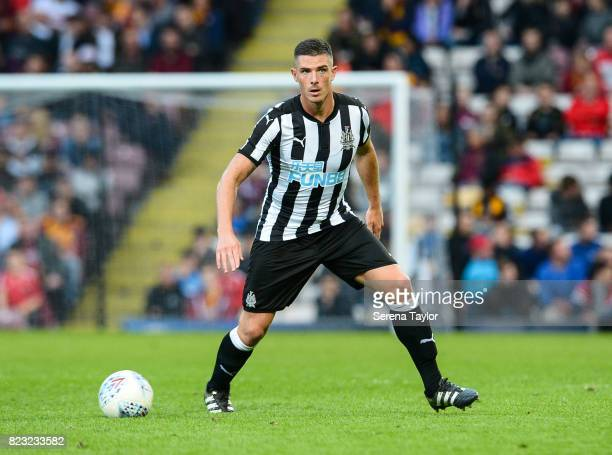 Ciaran Clark of Newcastle United runs with the ball during the the Pre Season Friendly between Bradford City and Newcastle United at the Northern...