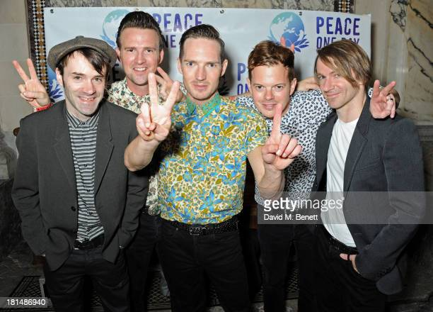Ciaran Jeramiah Paul Stewart Dan Gillespie Sells Richard Jones and Kevin Jerimiah of The Feeling attend the annual Peace One Day concert at the Peace...