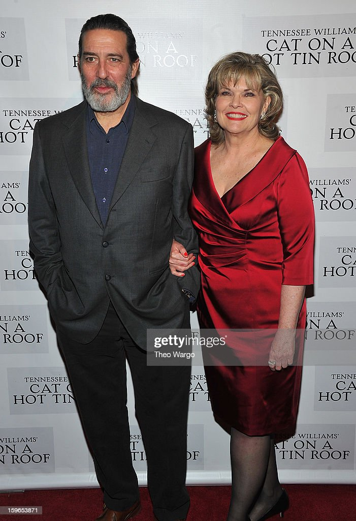 Ciarin Hinds and <a gi-track='captionPersonalityLinkClicked' href=/galleries/search?phrase=Debra+Monk&family=editorial&specificpeople=700075 ng-click='$event.stopPropagation()'>Debra Monk</a> attend the 'Cat On A Hot Tin Roof' Broadway Opening Night after party at The Lighthouse at Chelsea Piers on January 17, 2013 in New York City.