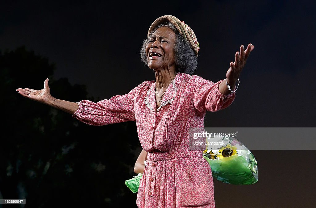 Cicely L.Tyson attends the 'The Trip To Bountiful' Final Performance Celebration at Stephen Sondheim Theatre on October 9, 2013 in New York City.