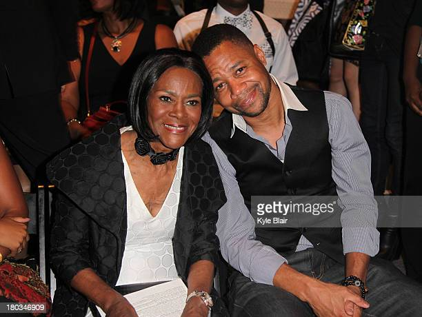 Cicely Tyson and Cuba Gooding Jr attend the B Michael America show during Spring 2014 MercedesBenz Fashion Week at The Studio at Lincoln Center on...