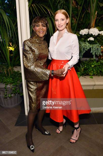 Cicely Tyson and Jessica Chastain attend ELLE's 24th Annual Women in Hollywood Celebration presented by L'Oreal Paris Real Is Rare Real Is A Diamond...
