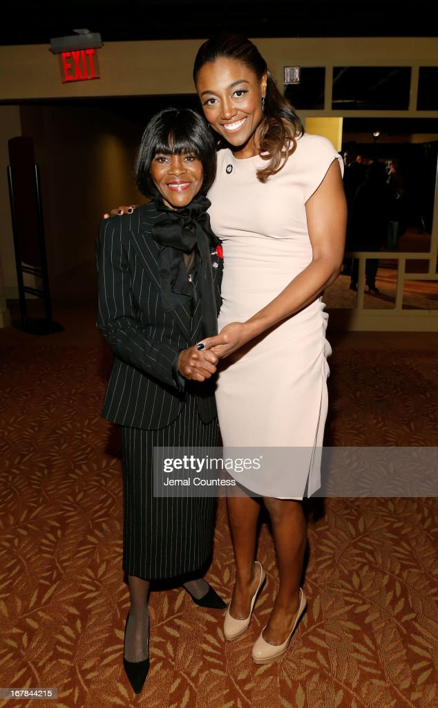 Cicely Tyson and Patina Miller attend the 2013 Tony Awards Meet The Nominees Press Reception on May 1, 2013 in New York City.