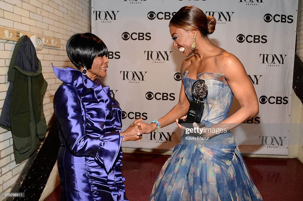 Cicely Tyson winner of the award for Best Performance by a Leading Actress in a Play for 'The Trip to Bountiful' and Patina Miller winner of the...