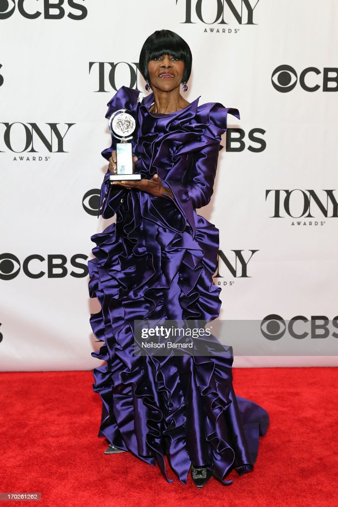 <a gi-track='captionPersonalityLinkClicked' href=/galleries/search?phrase=Cicely+Tyson&family=editorial&specificpeople=211450 ng-click='$event.stopPropagation()'>Cicely Tyson</a>, winner of the award for Best Performance by a Leading Actress in a Play for 'The Trip to Bountiful' poses in The 67th Annual Tony Awards at Radio City Music Hall on June 9, 2013 in New York City.