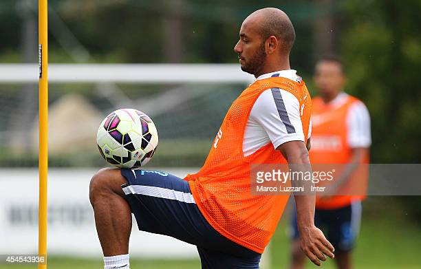Cicero Moreira Jonathan controls the ball during FC Internazionale training session at the club's training ground on September 3 2014 in Como Italy