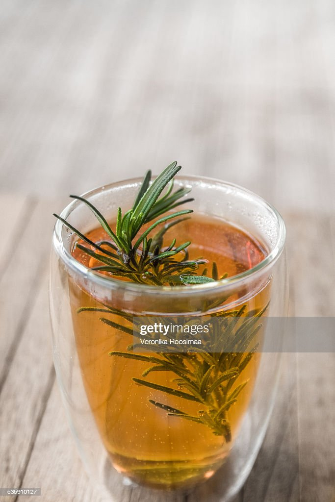 Cider and bourbon hot drink : Stock Photo